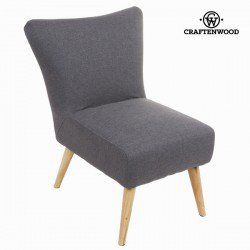 Fauteuil sixty gris - Collection Love Sixty by Craften Wood