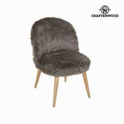 Fauteuil en forme de courbe marron by Craften Wood