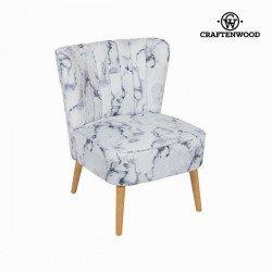 Fauteuil en tissu marbre by Craften Wood