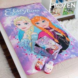 Boîte en Métal avec Couverture et Chaussons La Reine des neiges