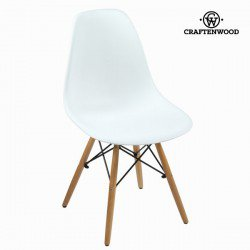 Chaise blanche pp ethêtre by Craften Wood