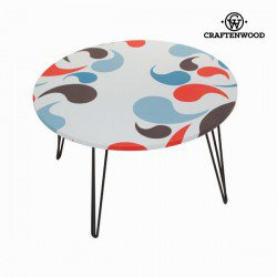 Table basse rondeavec virgules by Craften Wood