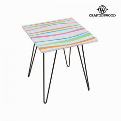 Table carrée rayures en couleurs by Craften Wood