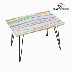 Table rectangulaire avec rayures by Craften Wood