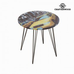 Table ronde taxi jaune by Craften Wood