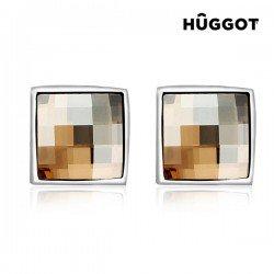 Boucles d'oreilles Plaqué Rhodium Autumn Hûggot Fabriquées avec des Cristaux Swarovski®