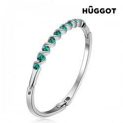 Bracelet Plaqué Rhodium Diane Hûggot Fabriqué avec des Cristaux Swarovski® (Ø 5 cm)