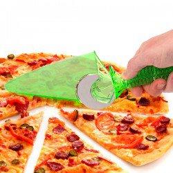 Roulette à pizza avec pelle intégrée