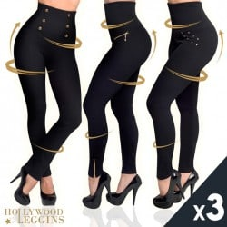 HOLLYWOOD PANTS - PACK 3 LEGGINGS MINCEURS