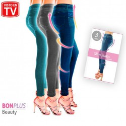 SLIM JEGGINGS AMINCISSANTS DENIM SET BONPLUS