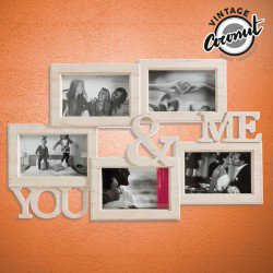Porte-photos You & Me Vintage Coconut (5 photos)